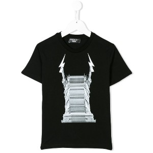 Neil Barrett Kids Liberty Lightning Bolt Tシャツ - ブラック
