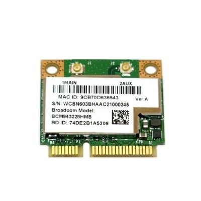 Broadcom社 BCM943228HMB 802.11a/b/g/n WIFI+Bluetooth 4.0(Intel 6235同等)無線LANカード