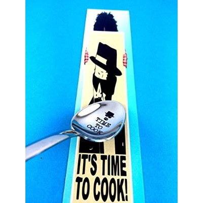 (Time to Cook) - Funny Gift by Weenca-Engraved Spoon-Time to Cook-Breaking Bad Heisenberg-Novelty...