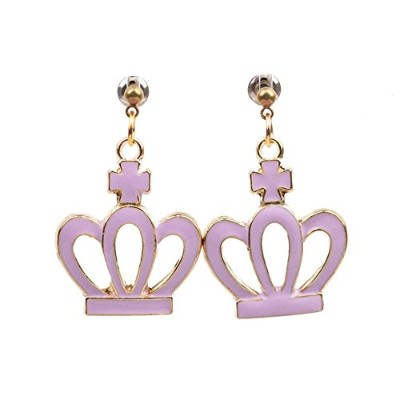 Choa Imperial Crownドロップイヤリング – Sweetピンクダングルイヤリングfor Little Princess