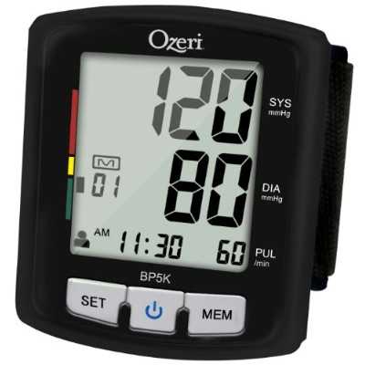 Ozeri BP5K Digital Blood Pressure Monitor with Voice-Guided Positioning and Hypertension Indicator...