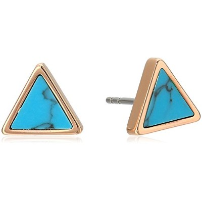 FossilレディースターコイズTriangle Studs One Size