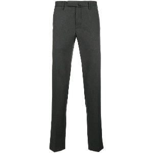 Incotex tailored fitted trousers - グレー