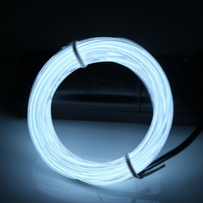 (White) - Lerway 3M Rope LED Light Strip EL Wire Cable for Festival Day Thanksgiving Day Christmas...