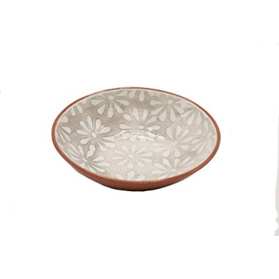 (Small Salad Bowl) - Euro Ceramica MAA-50323 Margarida Painted Salad Bowl, Small, Multicolor