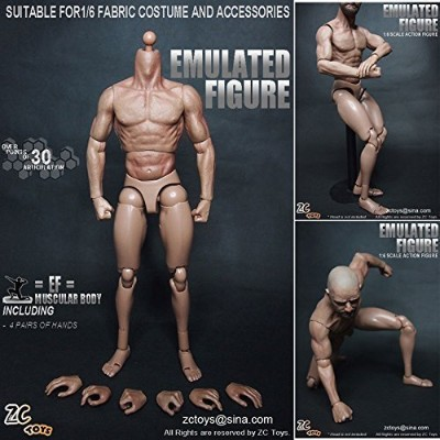 Zc Toys 1/6 Scale Muscular Figure Body Similar to Ttm19 for Hot Toys by ZC Toys 1/6 Scale Muscular...
