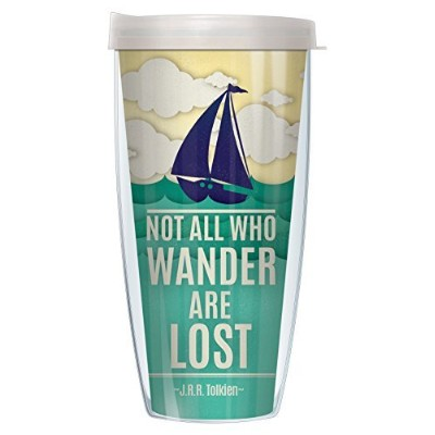 Not All Who Wander Are Lost j.r.r.キントラベラー22オンスタンブラーMug with Lid 22 Oz 08-WAN1+L