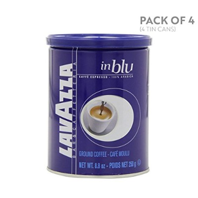 Lavazza in Blu - Espresso Ground Coffee, 8.8-Ounce Tins (Pack of 4) by Lavazza