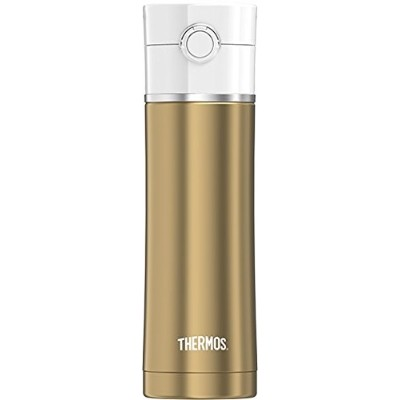 (Gold) - Thermos 470ml Sip Stainless Steel Drink Bottle, Gold