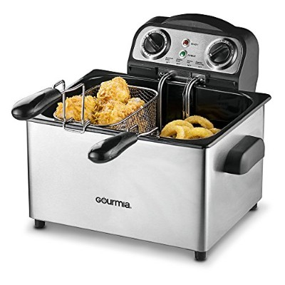 Gourmia Fry Station Deep Fryer Plus 2.0- Multi Fry Professional Style Deep Fryer, 4 Litter Capacity...