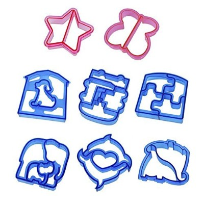 klemooサンドイッチとパンカッターFood図形キッズ用、8個Crust and Cookie Cutters、Make Lunchtime Fun and encourage Boys &...