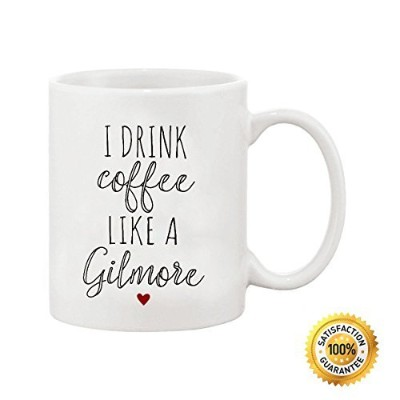 ditoomsコーヒーマグGilmore Girls I Drink Coffee Like A Gilmoreホワイトセラミックコーヒーマグ11オンス
