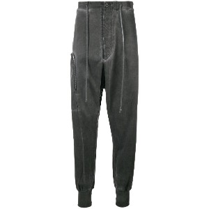 Lost & Found Rooms overdyed drop crotch joggers - グレー