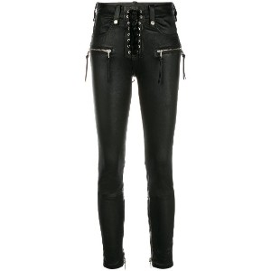 Unravel Project skinny lace-up jeans - ブラック