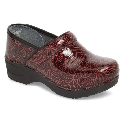 ダンスコ レディース スニーカー シューズ Dansko Pro XP 2.0 Clog (Women) Wine Tooled Patent Leather