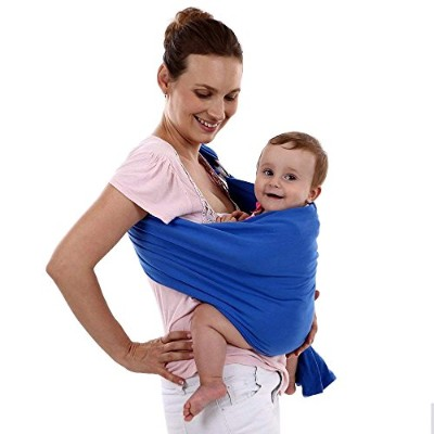 abcGoodefg? Cotton Adjustable Baby Toddler Ring Sling Stretchy Wrap Carrier for Newborn Blue by...