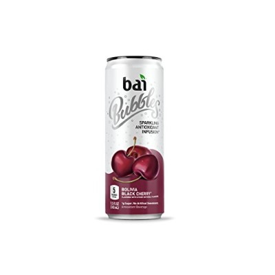 Bai Bubbles Bolivia Black Cherry, Antioxidant Infused Beverage, 11.5 Ounce (12 count) by bai