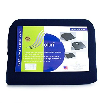 Personal Health Care Relaxation Equipment Visco Seat Wedge With Removable Coccyx Cut-Out- Navy by...
