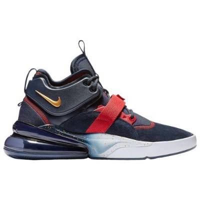 (取寄)ナイキ メンズ スニーカー エアフォース 270 Nike Men's Air Force 270 Obsidian Metallic Gold Gym Red White