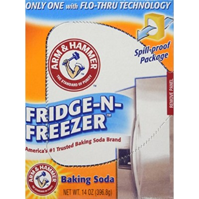 Arm & Hammer Baking Soda, Fridge-N-Freezer Pack, Odor Absorber, 14oz 6 Pack by Arm & Hammer