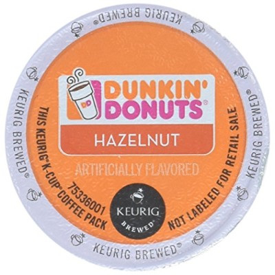 32 Count - Dunkin Donuts Hazelnut Flavored Coffee K-Cups For Keurig K Cup Brewers (2 boxes of 16 k...