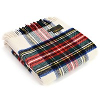 Tweedmill Tartan Throw Blanket – 純粋な新しいウール 59 x 72 Inch THTA425