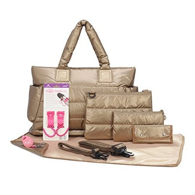 CiPU CT-Bag 2.0 ECO 9 Pieces Diaper Bag Tote Combo Set (Exclusive Gold) by CiPU