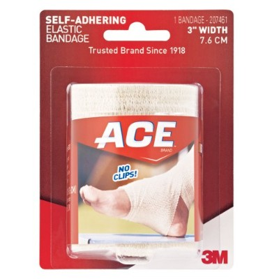 ACE Self-Adhering Elastic Bandage, 3 Inches (Pack of 2) by ACE