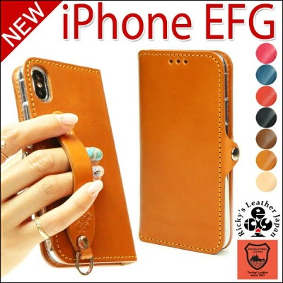 EFG iPhone X 8 8plus 手帳型 ケース TPU 名入れ可 iphonex iphone8 7 7plus iphone7 iphone8plus iphone7plus 手帳...