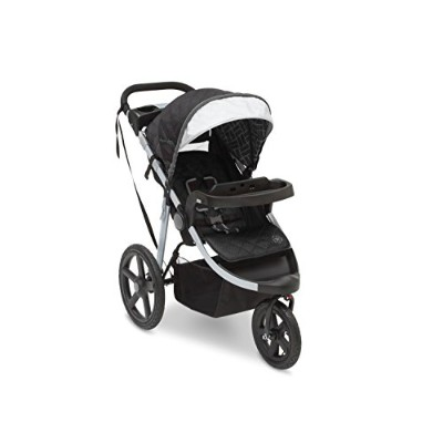 J is for Jeep Brand Adventure All-Terrain Jogging Stroller, Charcoal Tracks by Jeep