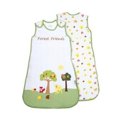 SlumberSafeTM Baby Cotton Sleep Sack Wearable Blanket 2.5 Tog Forest Friends 6-18 months MEDIUM by Schlummersack