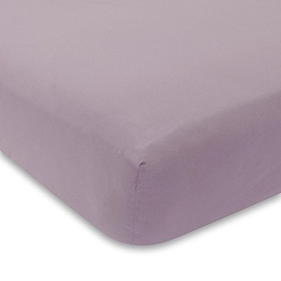 Lambs & Ivy Signature Mix & Match Aubergine Fitted Sheet by Lambs & Ivy