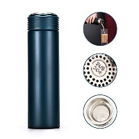 NeコーヒーWide Mouth旅行マグ、真空断熱、ステンレススチールwith leak-proof Cafeトップ、Made by Klean Kanteen–17ounces