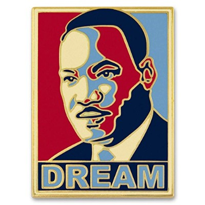 Pinmart 's Dr。Martin Luther King Jr。MLK Dreamエナメルラペルピン 1