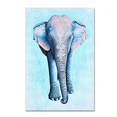 Painted Asian Elephant by Michelle Faber、22x 81cmキャンバス壁アート