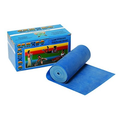 CanDo? Low Powder Exercise Band - 6 yard roll - Blue - heavy