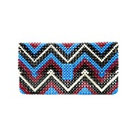 Delduca beaded geometric clutch bag - ブルー
