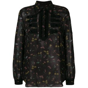 Coach Wildflower print military shirt - ブラック