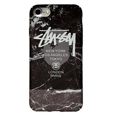 STUSSY iPhone8 iPhone7 (4.7inch) 対応ケース ステューシー 液晶保護フィルム付 7st214 [並行輸入品]