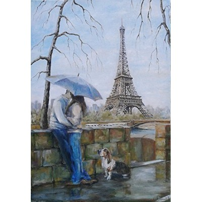 (Love of Eiffel Tower) - Paint By Number Kits ifymei Paintworks DIY Oil Painting for Kids and...