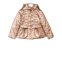Baby Dior hooded padded jacket - メタリック