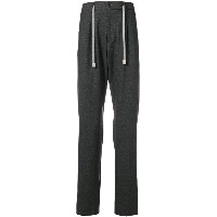 Eleventy drawstring tapered trousers - グレー