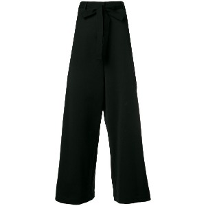 Hache belted wide leg trousers - ブラック