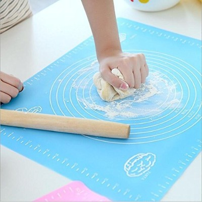 Extra Large Silicone Baking Mat for Pastry Rolling with Measurements Pastryローリングマット、再利用可能なノンスティックシリコ...