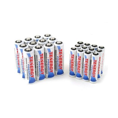 Tenergy プレミアム NiMH Rechargeable バッテリー Package: 12 AA 2500mAh + 12 AAA 1000mAh 「汎用品」(海外取寄せ品)