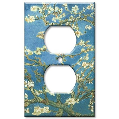 Van Gogh : Almond Blossomsスイッチプレート–Double Toggle Outlet Cover 130-O