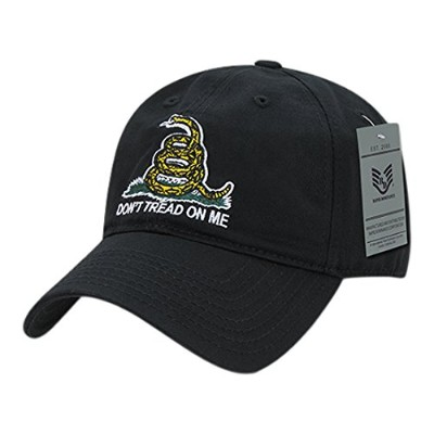Rapid Dominance A03-1GAD-BLK Gadsden Flag Relaxed Graphic Cap44; Black