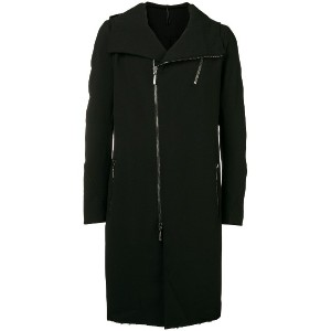 Masnada double breasted front zip coat - ブラック