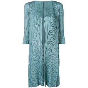 Pleats Please By Issey Miyake pleated midi jacket - ブルー