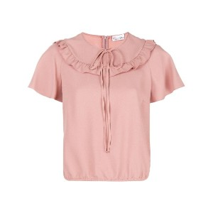 Red Valentino ruffle short-sleeve blouse - ピンク